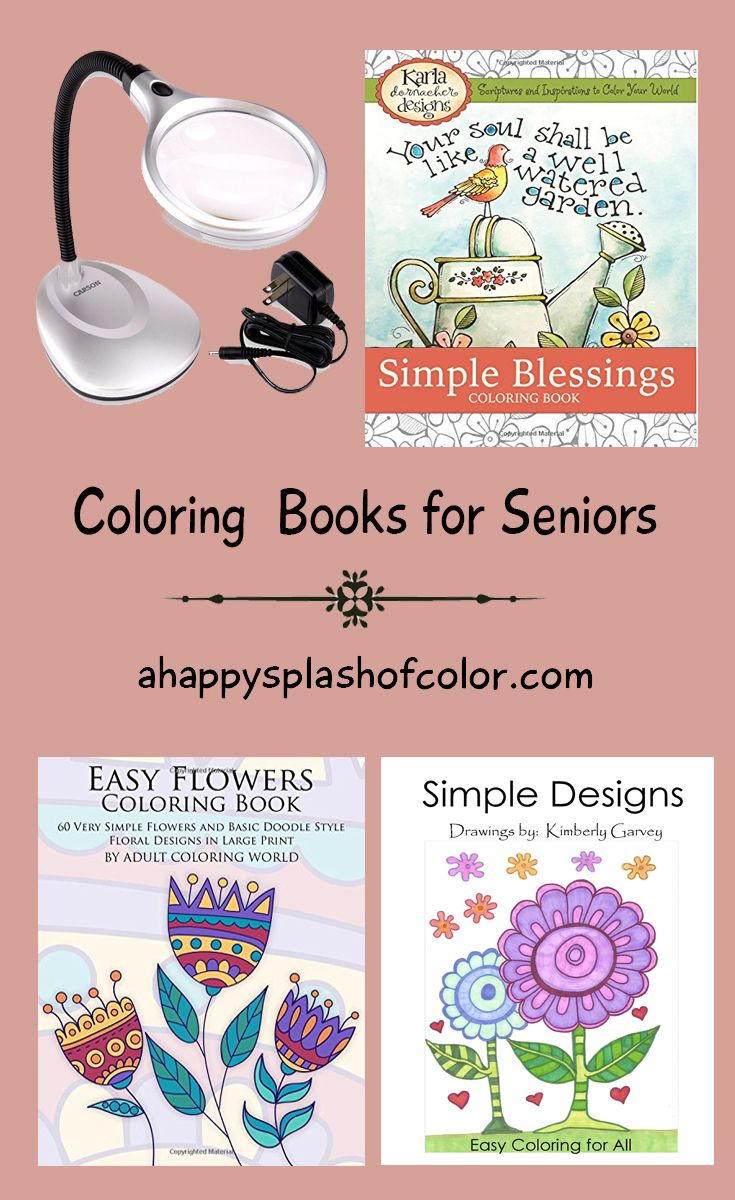 Coloring pages large print - Large Print Coloring Books For Seniors