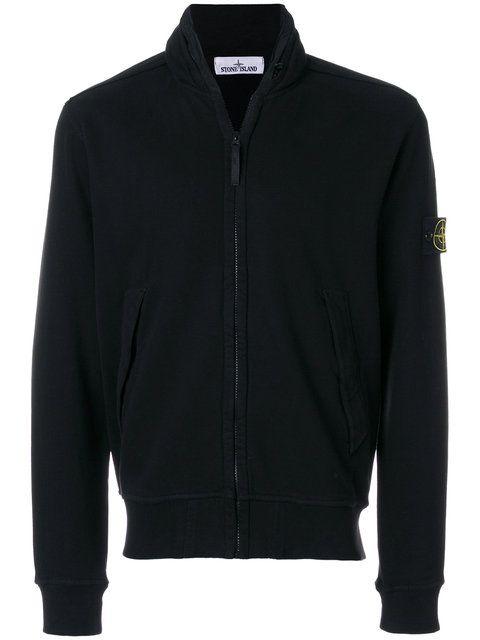 Stone Island zip front sweatshirt