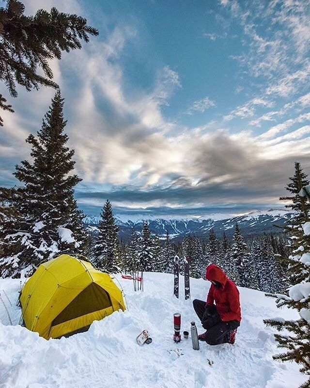 Entspannter Wintercamping