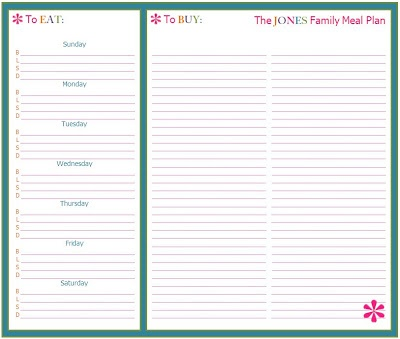 21 best Work printables and ideas images on Pinterest Printables - menu planning template