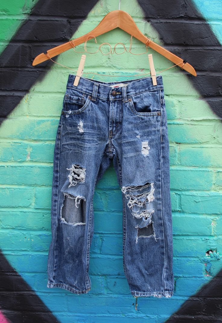 Boys Jeans 5 Distressed Jeans Trendy Kids Clothes Ripped Jeans Distressed Denim Modern Kids Clothes Edgy Kids Clothes Toddler Jeans by RunnergirlCreations on Etsy