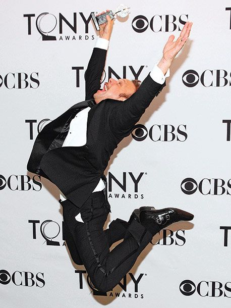 I adore Norbert Leo Butz, and saw him perform in Catch Me If You Can the night before this was taken...AND have pictures of him at the red carpet the night this was taken! :)