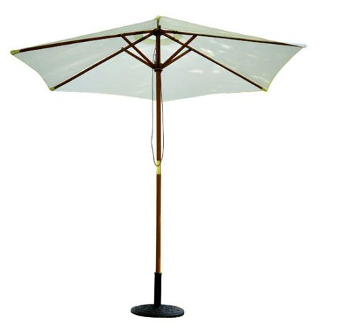Large Garden Parasol 2.5m Cream White Canopy Patio Umbrella Outdoor Sun Shade  #SmartDealsMarket #MarketUmbrellaParasol