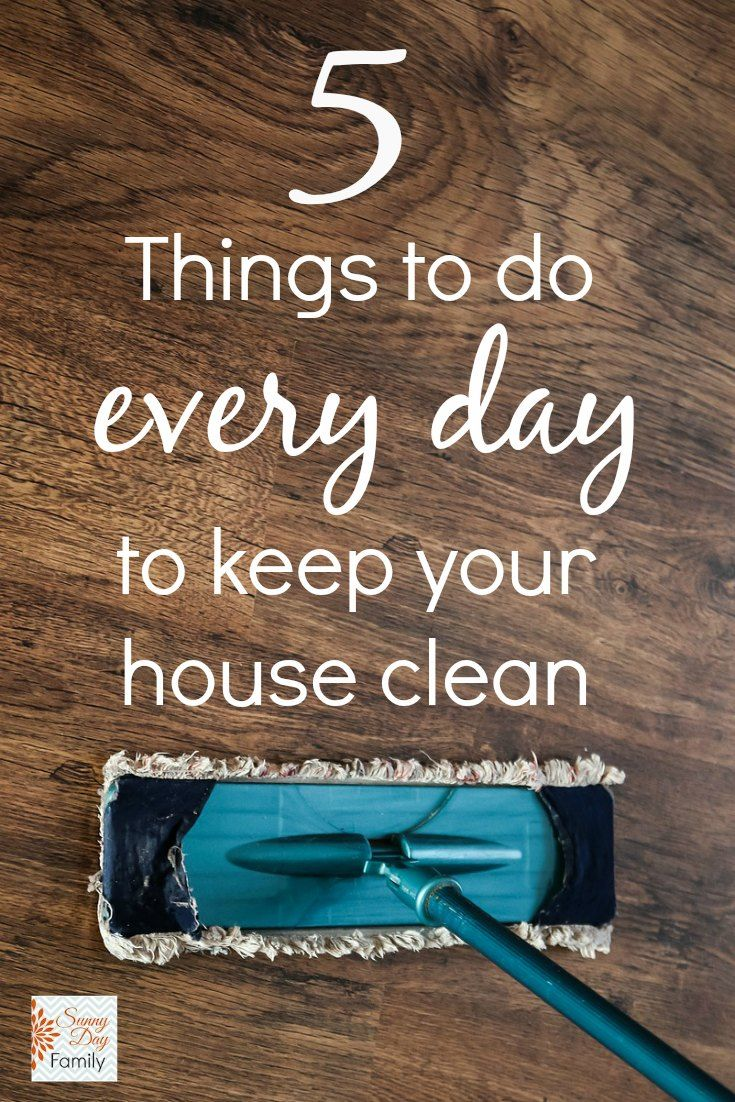 5 things to do every day to keep your house clean and organized. I have done all of these for years and it does help alot but I would add two more. Always make your bed and keep a clean kitchen sink. I've always worked and haven't had much time to clean but these tips give the appearance of an orderly, clean home.