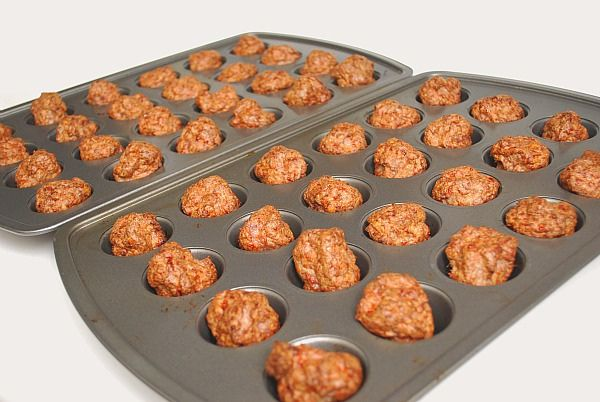 Tip: rather than frying your meatballs, use a mini muffin pan and bake them instead! Spray the mini muffin pan with cooking spray to prevent sticking and place your meatballs in each well. Bake at 350 degrees for 15-20 minutes. Remove and use in the recipe as directed.