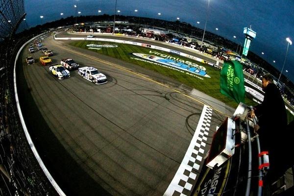 Racing under the lights at Richmond International Raceway.