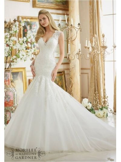 lace appliques tull mori lee 2882 wedding dress|mori lee 2882|www.bestdresssellingcom
