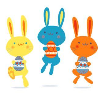 Free Easter Bunny Garland. Easter Holiday DIY printable template!