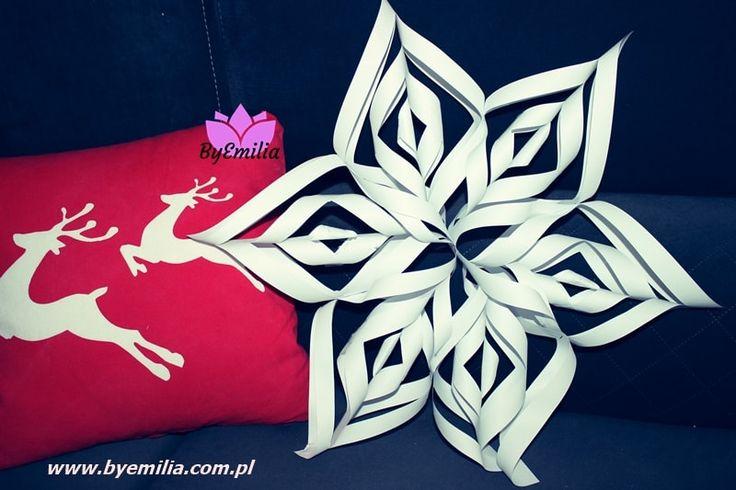 śnieżynka 3d z papieru