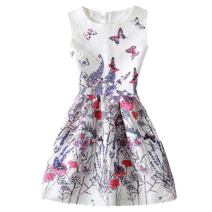 $8.37 (Buy here: https://alitems.com/g/1e8d114494ebda23ff8b16525dc3e8/?i=5&ulp=https%3A%2F%2Fwww.aliexpress.com%2Fitem%2FGirls-Dress-For-Teenager-11-20-YEARS-Spring-Flower-Print-Party-Dresses-For-Girls-Kids-Summer%2F32796370320.html ) Girls Dress For Teenager 11-20 YEARS Spring Flower Print Party Dresses For Girls Kids Summer Costumes For Girl Dress Vestidos  for just $8.37