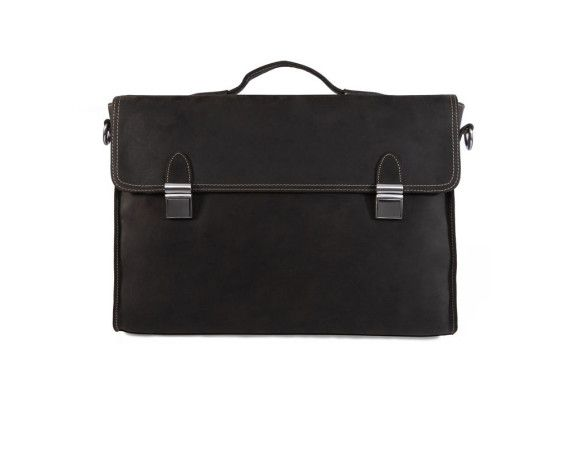This Dark Brown leather briefcase is made from durable leather with a timeless breifcase design.