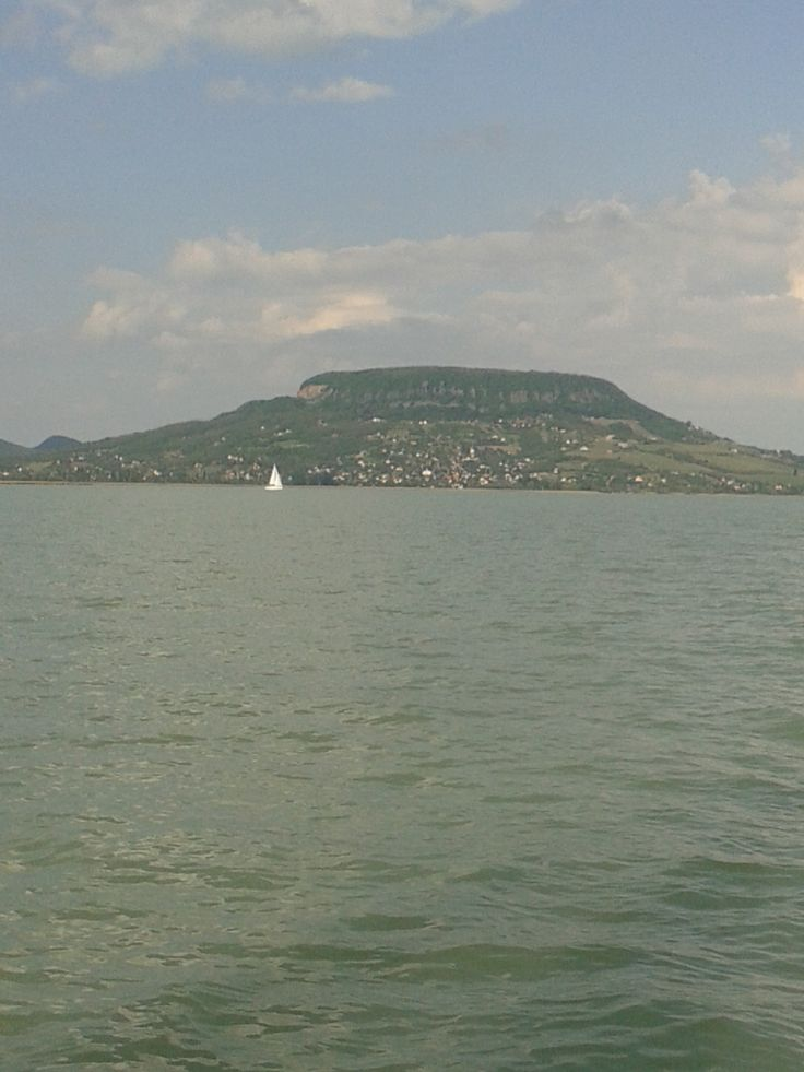 Wine hill Badacsony, like a hut at the side of Lake Balaton.