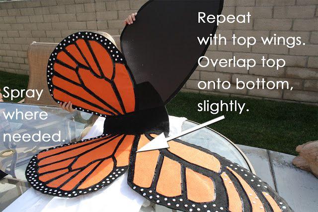 icandy handmade: (tutorial) DIY Monarch Butterfly Costume