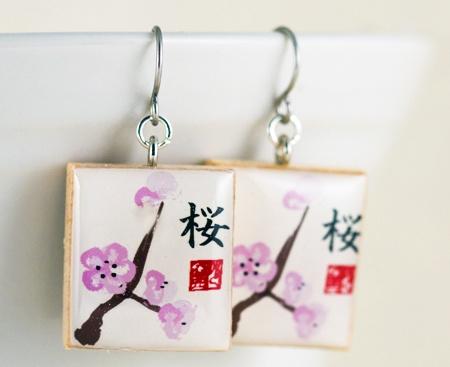 Sakura Cherry Blossom Earrings