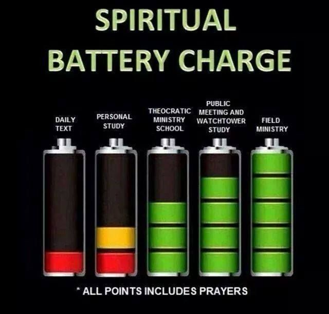 Nice Reminder! Keep that battery charged! Satan will be draining your power!