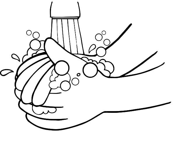 Kid Want To Washing Hand Coloring Pages Coloring Sun 16931