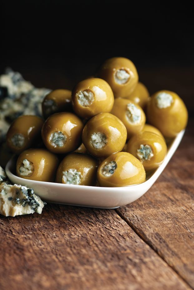 Green Olives Stuffed with Gorgonzola Cheese - Castella Imports
