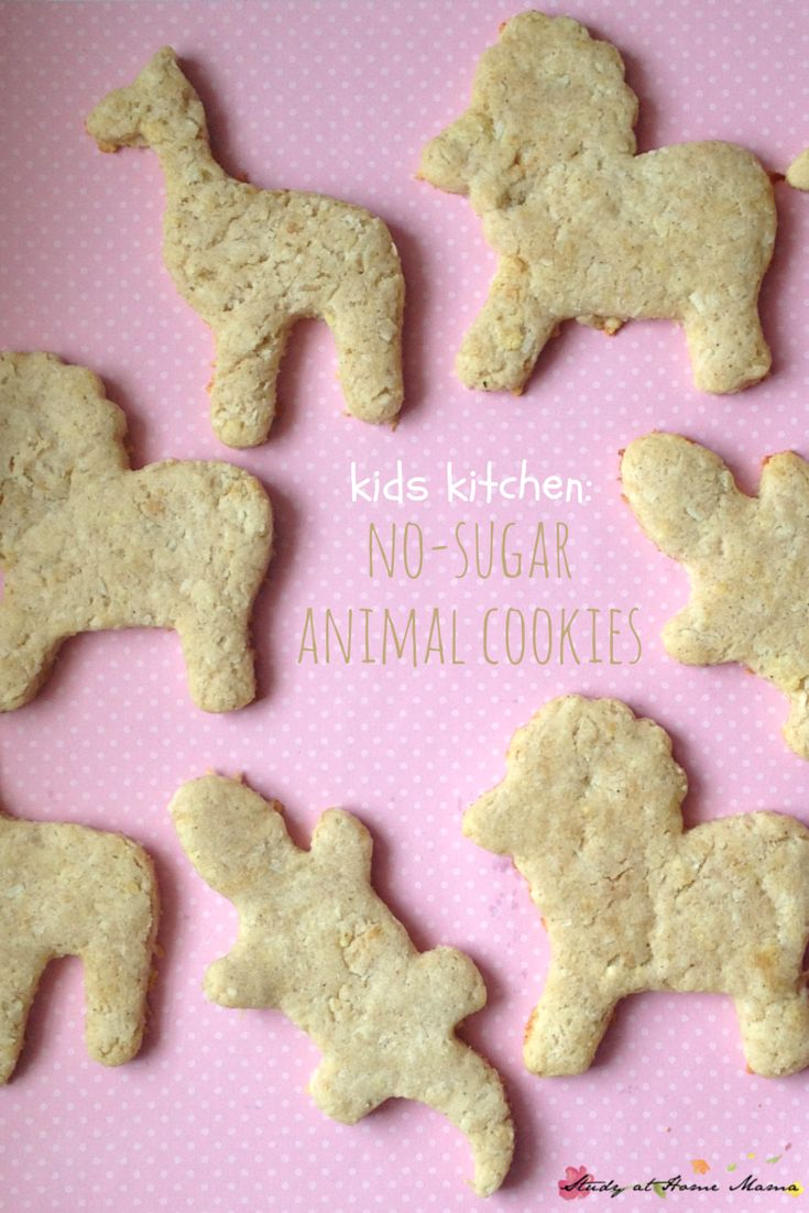 Kids Kitchen: Sugar-free Animal Cookies recipe made by kids. An easy healthy recipe for cookies that kids will love!