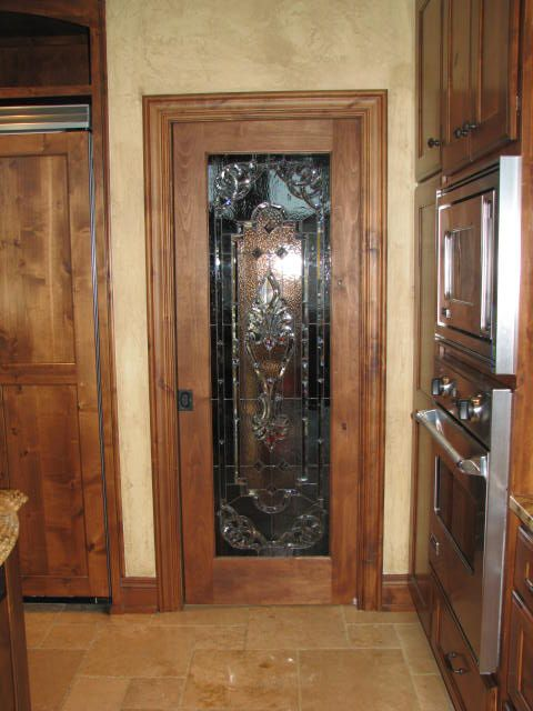 Stained Glass Amp Bevel Pantry Door For Tuscany Style