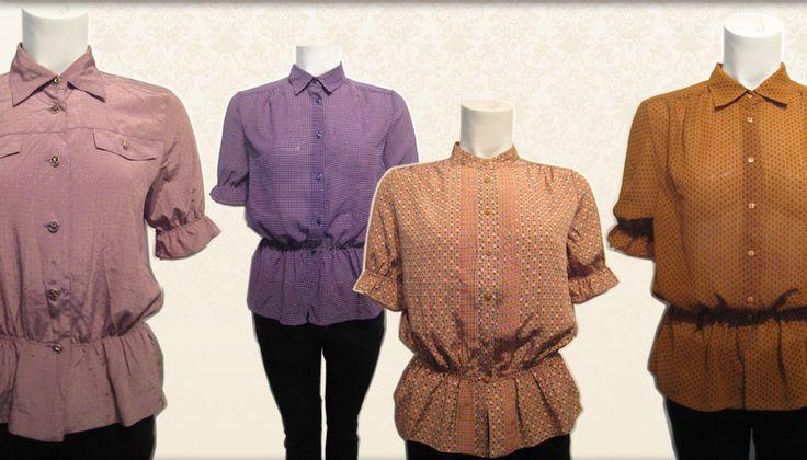 Revamped vintage blouses