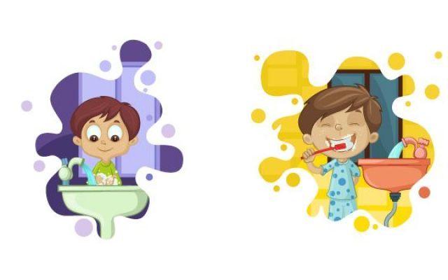 Come insegnare ai propri bambini a lavarsi le mani e i denti? #denti #bambini #mani #papà