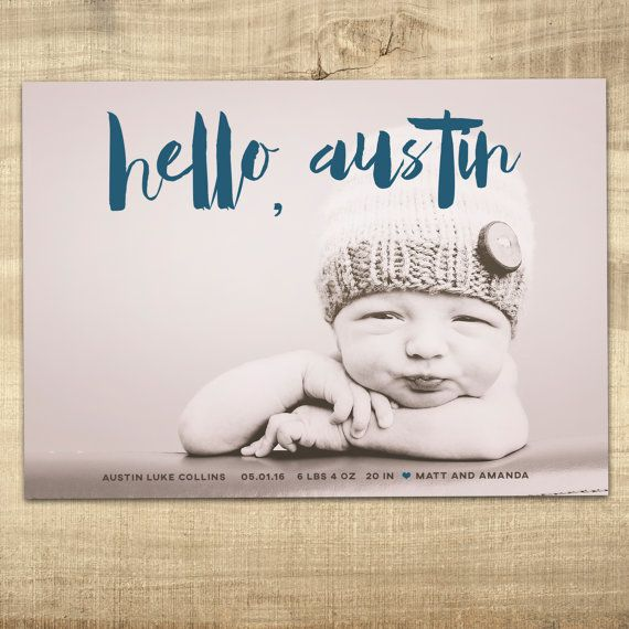 58 best modern birth announcements images – Indiana Birth Announcements