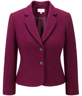Plum Petite Boiled Wool Jacket