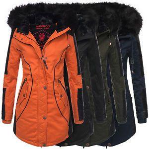 Marikoo Larissa Designer Damen Winter Parka warme Winterjacke Mantel Jacke B372   eBay