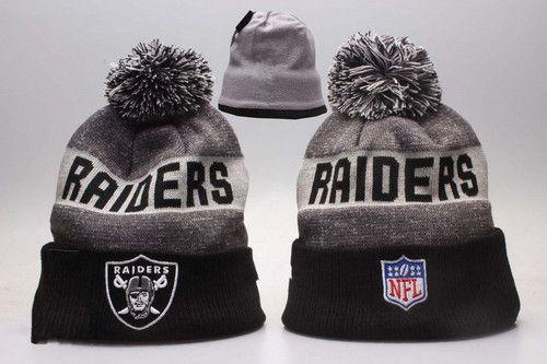 Oakland Raiders Winter Outdoor Sports Warm Knit Beanie Hat Pom Pom ... 4ac5260485fe