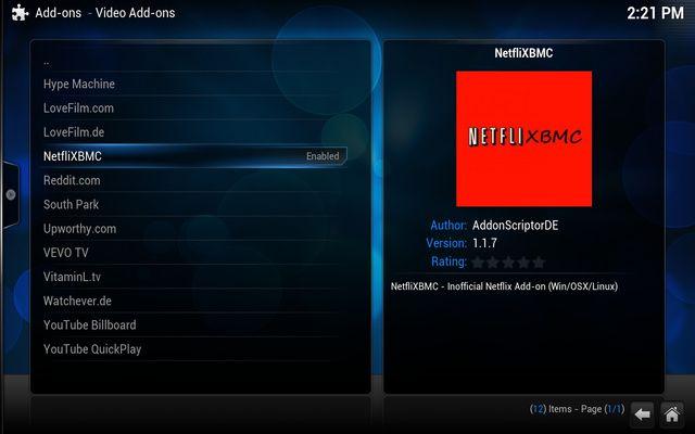 Netflix on XBMC