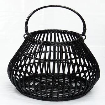 Lantaarn rotan zwart 65x54 cm | Kaarsen & kaarsenhouders | Woonaccessoires | Woondecoratie | KARWEI