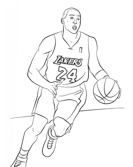 22 best Sports images on Pinterest Coloring books, Coloring pages - best of free printable coloring pages of basketball players