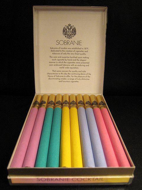 what fun coloured cigarettes - cocktail cigarettes by Sobranie