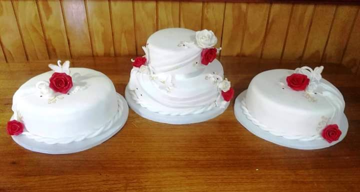#Wedding #fondant #cake by Volován Productos  #instacake #puq #Chile #VolovanProductos #Cakes #Cakestagram #SweetCake