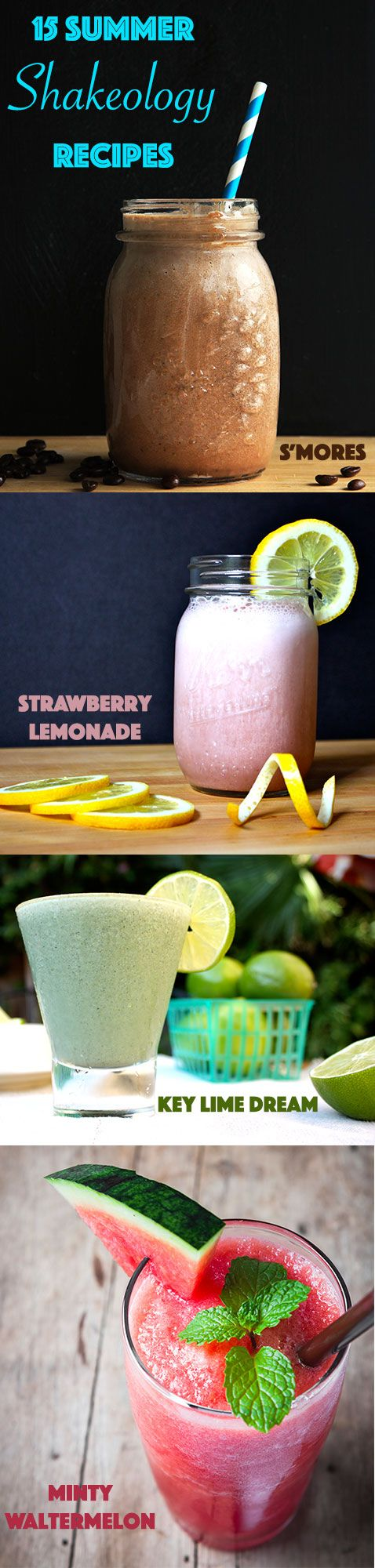 Don't let summer end before trying at least one of these 15 delicious Shakeology smoothies! // 21 Day Fix // 21 Day Fix Approved // fitness // fitspo  motivation // Meal Prep //  Meal Plan // Sample Meal Plan// diet // nutrition // Inspiration // fitfood // fitfam // clean eating // Shakeology //smoothie // smoothie recipes