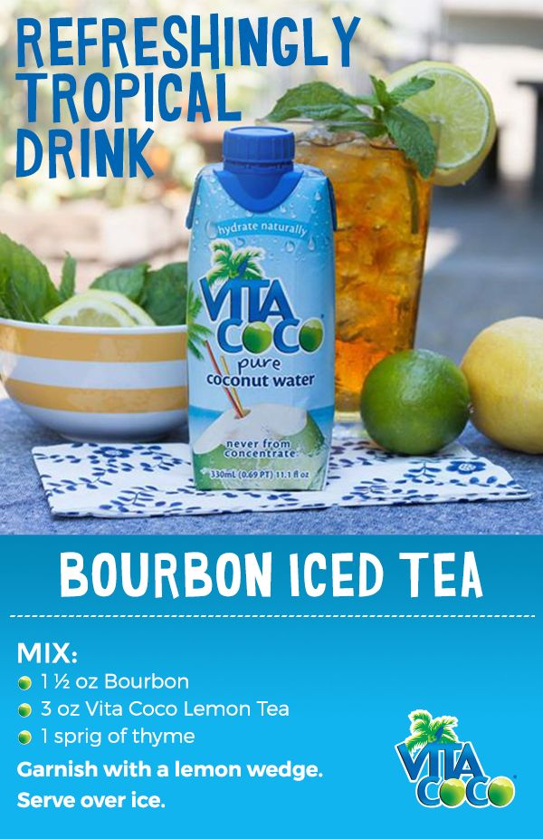 Vita Coco makes any drink refreshingly tropical. For your next party, surprise your friends with a Bourbon Iced Tea with Vita Coco and watch your tribe take on the island vibe! Check out Vita Coco for more fun drink recipes.