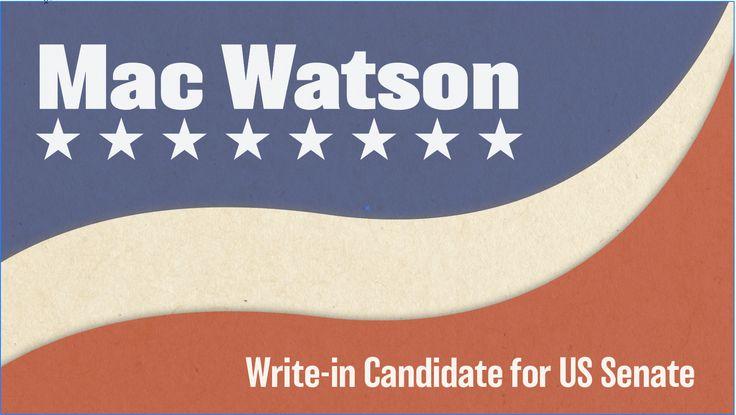 Mac Watson Announces Write-in Campaign for Alabama Senate Special Election
