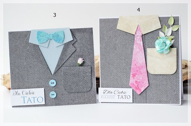 Męska rewia mody- kartki na Dzień Ojca