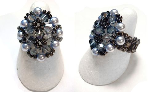 FREE Pattern for Beaded Ring 2 FLOCONS. Page 1 of 3