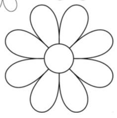 photograph about Daisy Template Printable identified as 8 Petal Flower Template 1 - 236 X 238 Unicorn Flower