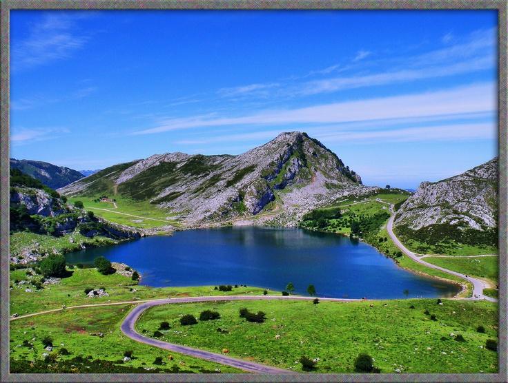 Enol Lake, Asturias, Spain