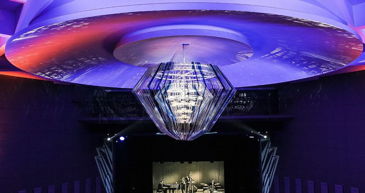Chandelier designed by Jacopo Foggini for the restyling of Teatro dell'Arte, Triennale of Milan