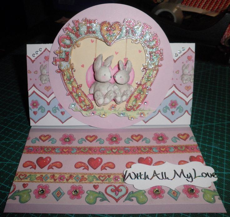 Fun Fair decoupage and paper pack by Helz Cuppleditch for Trimcraft. Rainbow reeting by Craft Creations.