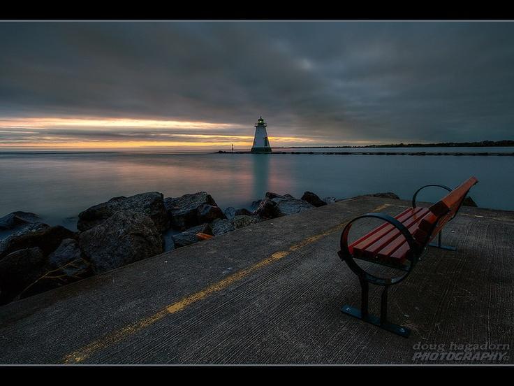 Port Dalhousie pier, St Catharines, Ontario, Canada