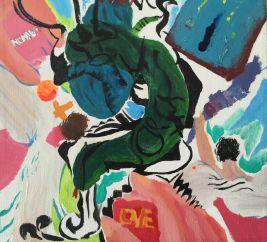 "Brett De Palma, ""Glow Worm"", 2015, Acrylic on canvas"