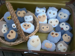 Harry Potter Stuffed Owlets from Upcycled T-Shirts. Everyone loves HP, owls, and