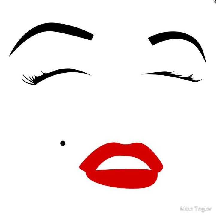 Asolutely LOVE this minimalistic Marilyn Monroe modern pop art featuring her iconic Red Lip