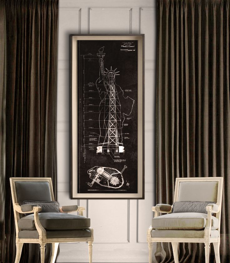 7 best vintage blueprints architecture prints signs images on chrysler building blueprint vintage new york city manhattans chrysler building blueprint poster print giclee print malvernweather Gallery