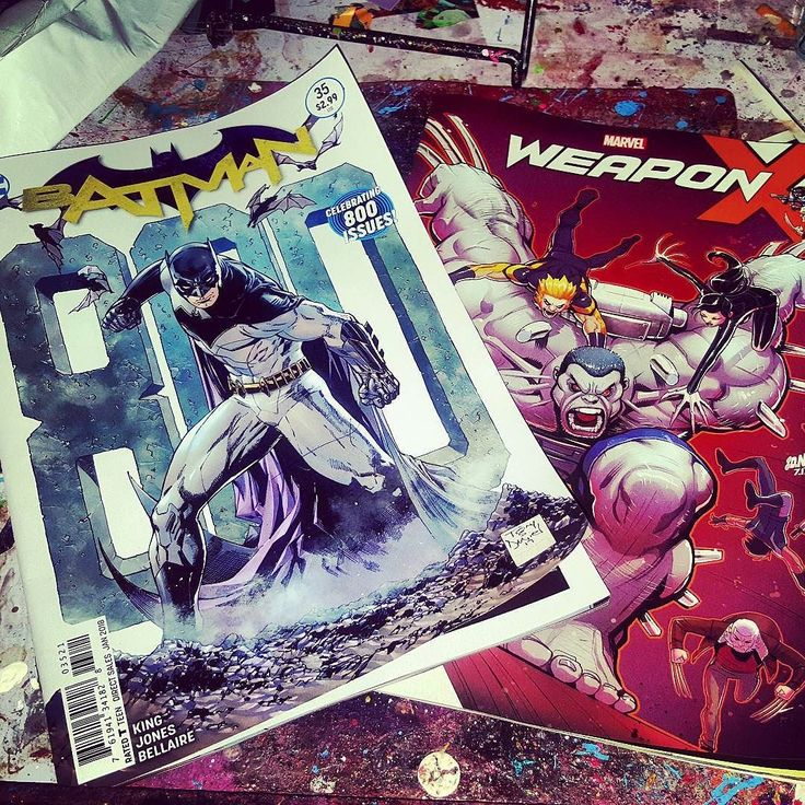May not have been able to get #doomsdayclock today but I am definitely going to enjoy working with these two      #batman #35 #dcrebirth #weaponx #11 #batchh #hulk #wolverine #catwoman #sabretooth #allnewwolverine #domino #oldmanlogan #xmen #justiceleague #batmanandrobin #darkknight #dccomics #marvelcomics #dc #marvel #newcomicbookday #ncbd #awesomeness #montreal