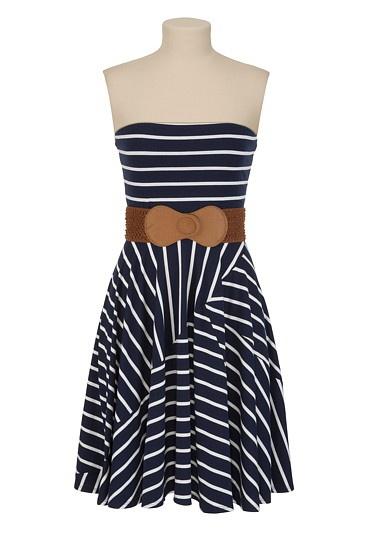belted striped tube dress $34: Summer Dresses, Stripes Tube, Nautical Stripes, Belts Stripes, Style, Navy Stripes, Cute Dresses, Tube Dresses, Stripes Dresses